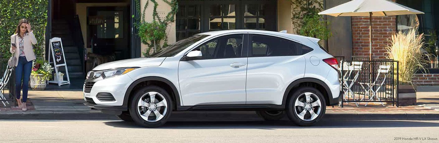 side view of a gray 2019 Honda HR-V