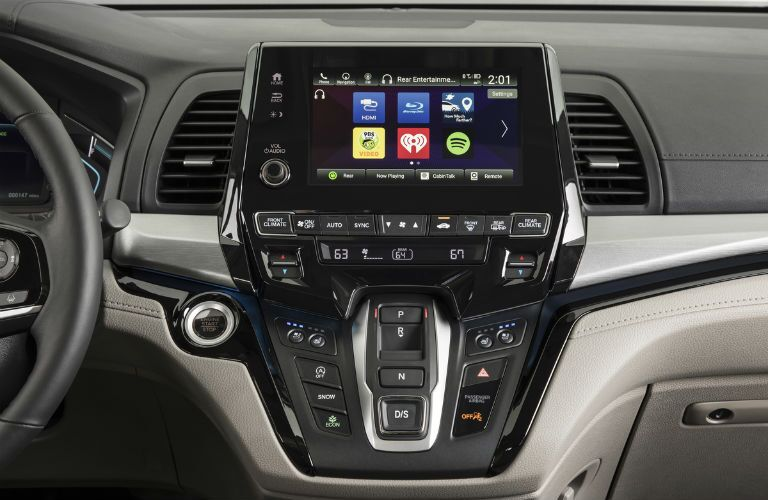 infotainment system in a 2019 Honda Odyssey