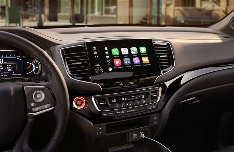 infotainment system in a 2019 Honda Passport
