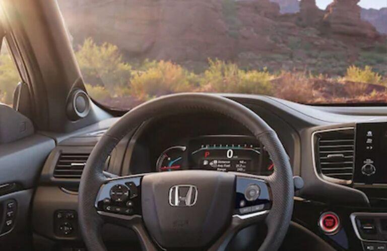 driver information display in a 2019 Honda Passport