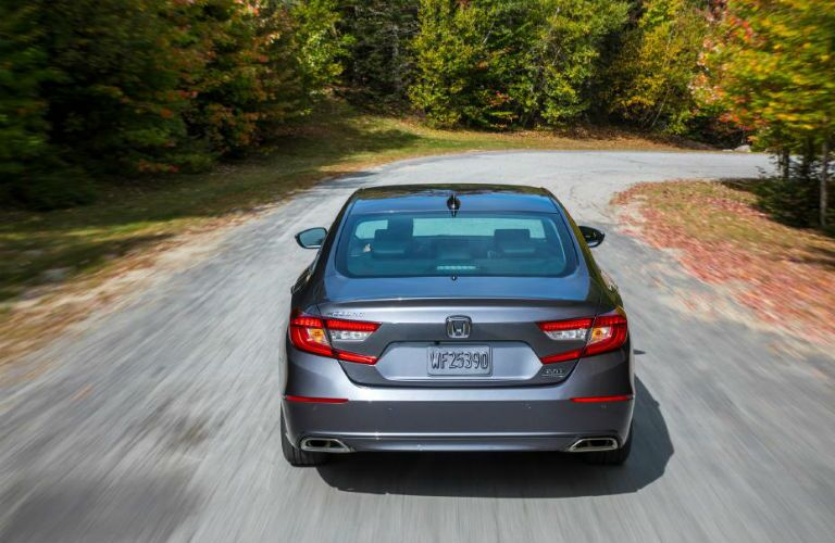 rear view of a gray 2020 Honda Accord
