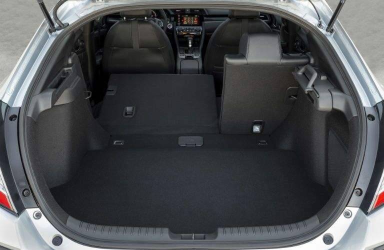 rear cargo area in a 2020 Honda Civic Hatchback