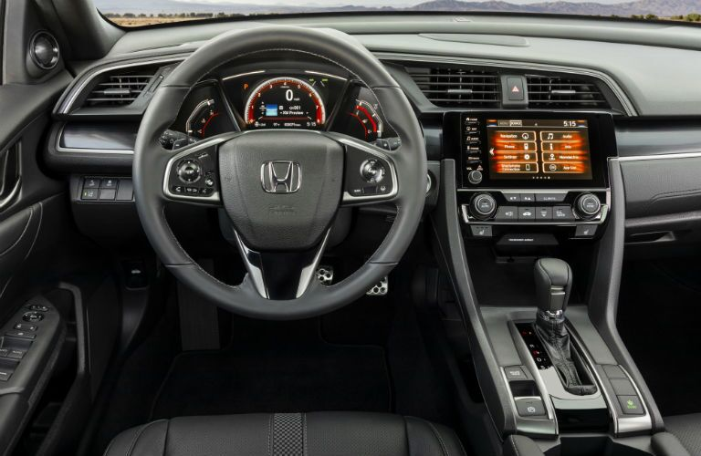 driver dash and infotainment system of a 2020 Honda Civic Hatchback