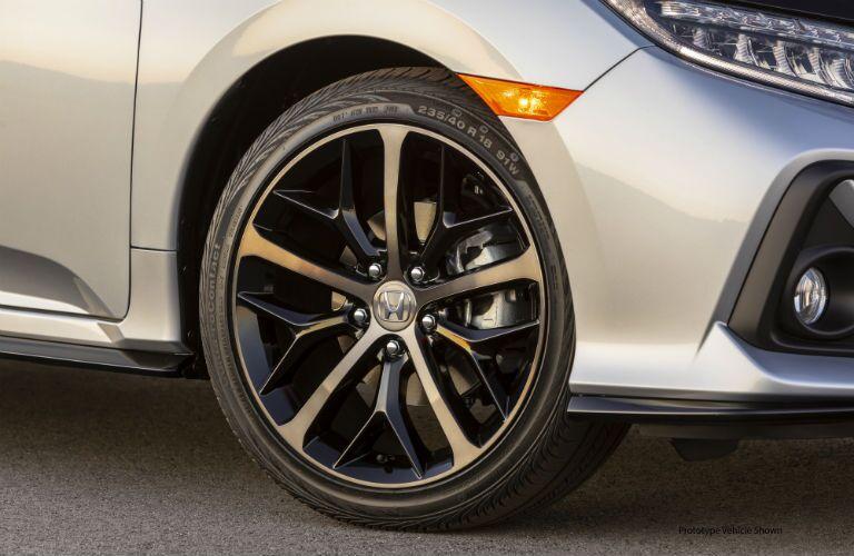front wheel of a 2020 Honda Civic Hatchback
