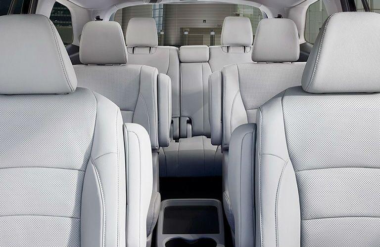 Three rows of seats inside the 2020 Honda Pilot