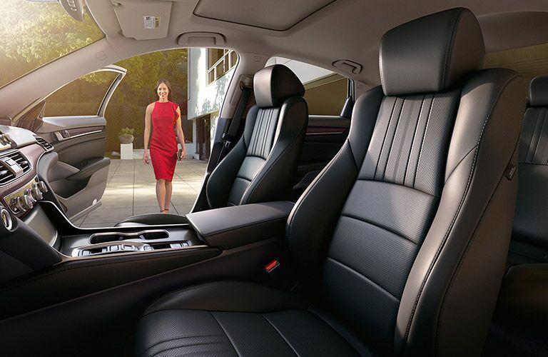 Woman approaches a 2021 Honda Accord