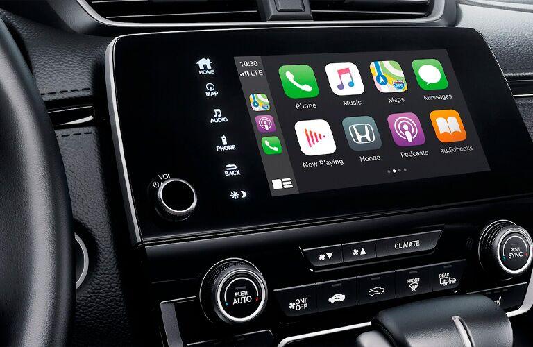 Apple CarPlay menu on infotainment screen of 2021 Honda CR-V
