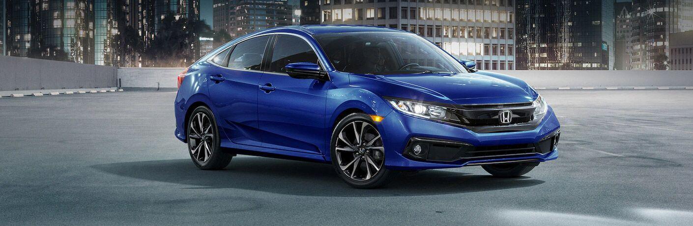 Blue 2021 Honda Civic