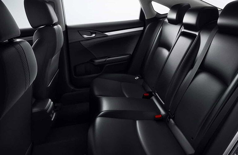 Rear seats inside 2021 Honda Civic