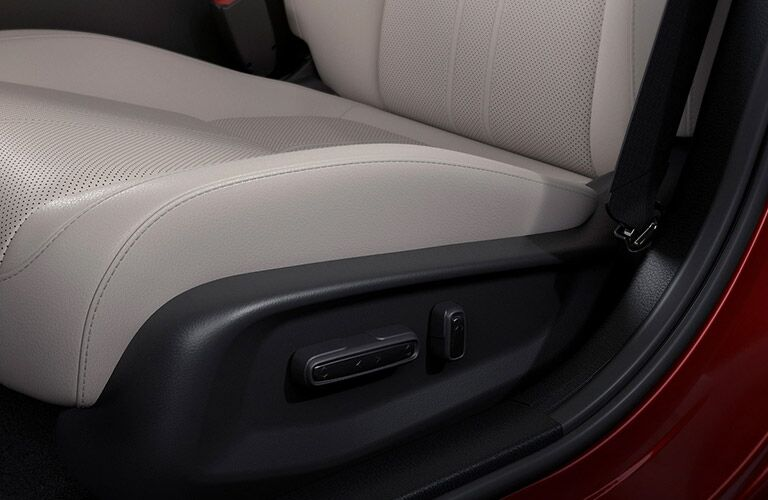 Close up on seat adjusters in 2021 Honda Insight