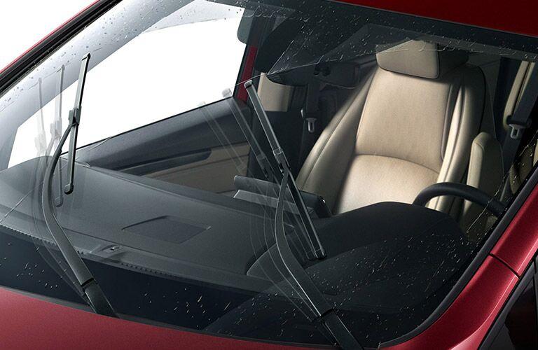 Wipers wipe a 2021 Honda Odyssey