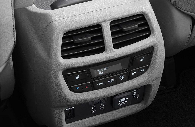 Control console inside a 2021 Honda Pilot
