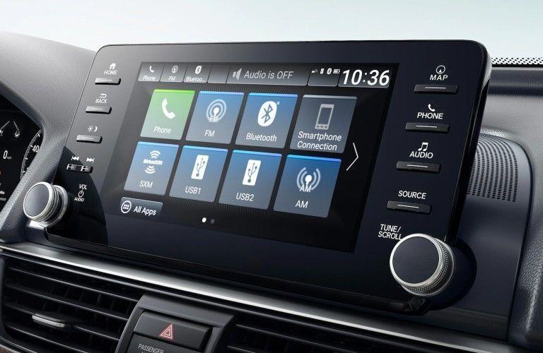 Infotainment display inside 2021 Honda Accord