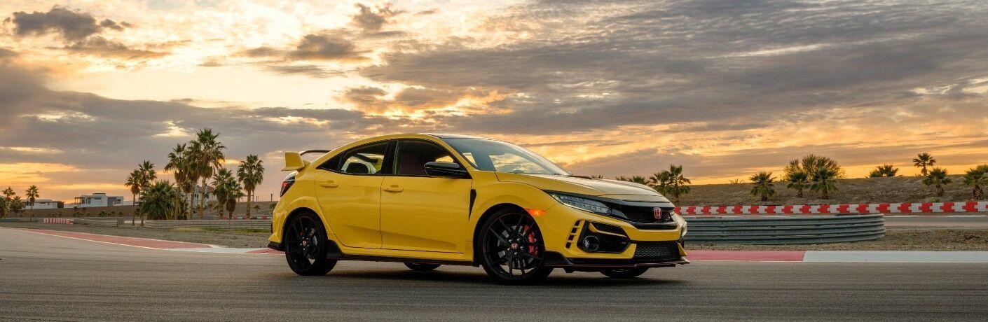 2021 Honda Civic Type R on track