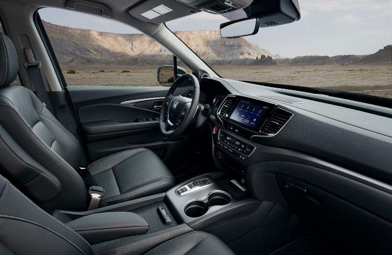 Side view of front seat inside 2021 Honda Ridgeline