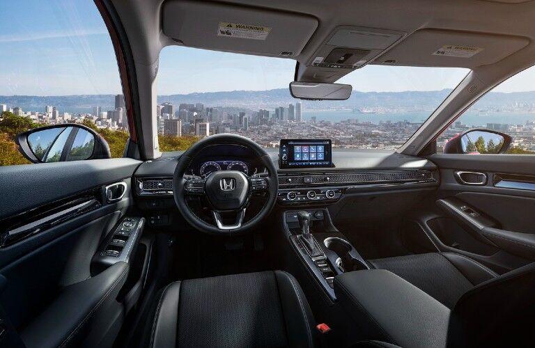Interior front driver's region of a 2022 Honda Civic