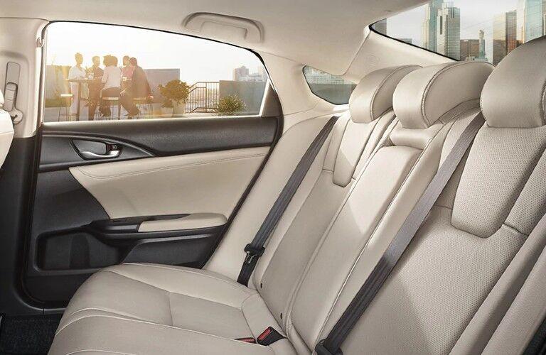 Side view of rear seat inside 2022 Honda Insight