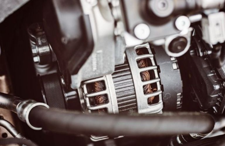 Car alternator detailed image