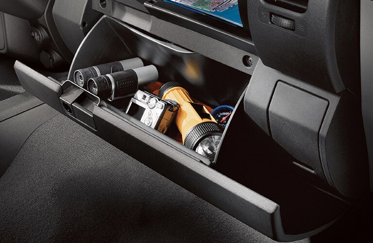 storage compartment in a 2018 Nissan Frontier