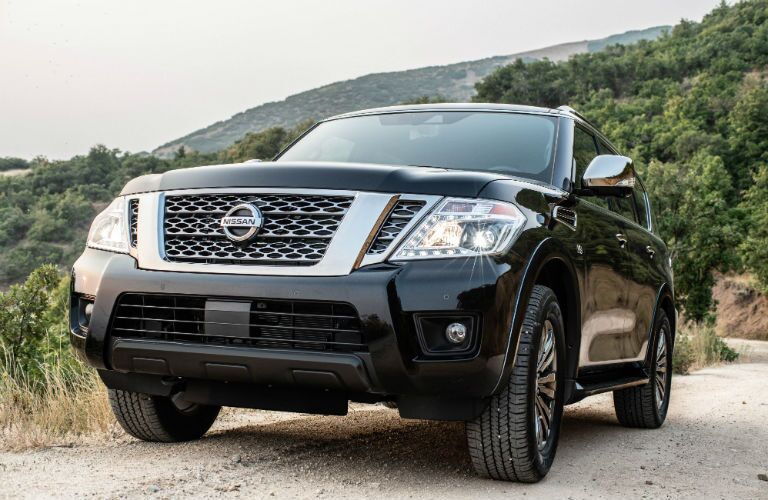 front view of a black 2019 Nissan Armada