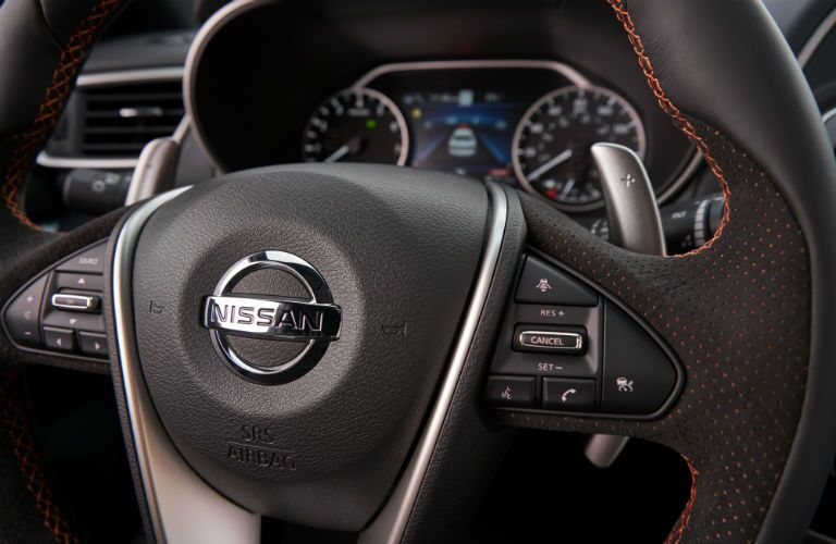 steering wheel in a 2019 Nissan Maxima