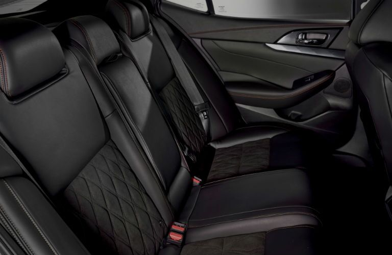 rear passenger space in a 2019 Nissan Maxima