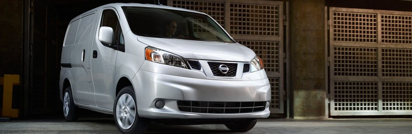 front view of a white 2019 Nissan NV200
