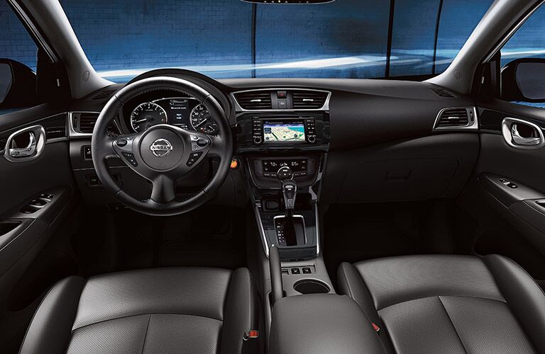 driver dash and infotainment system of a 2019 Nissan Sentra