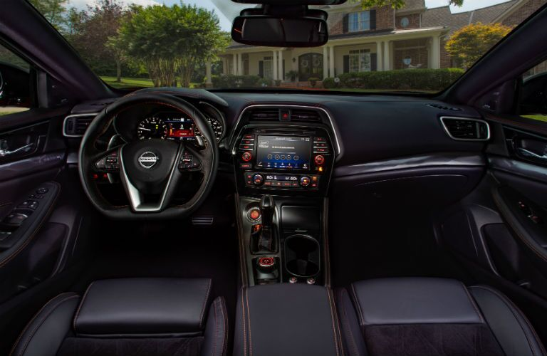front interior of a 2020 Nissan Maxima