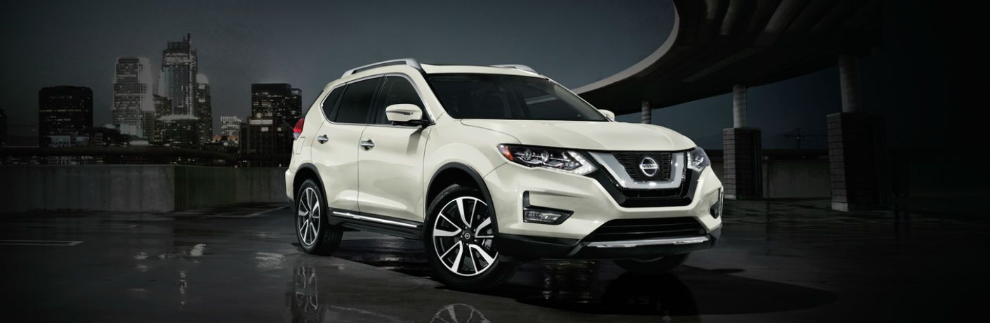 front view of a white 2020 Nissan Rogue
