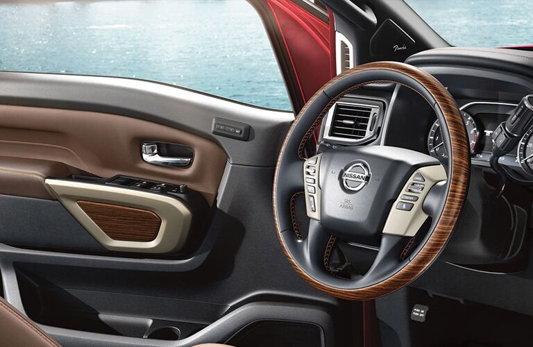 Interior front cabin of a 2020 Nissan TITAN