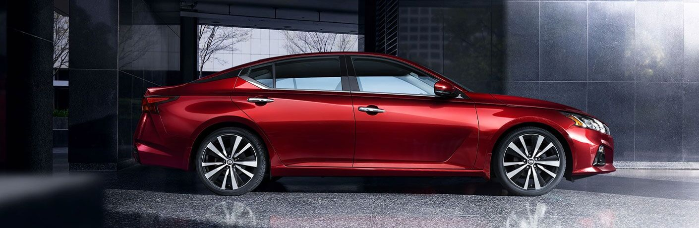 Side view of a 2021 Nissan Altima