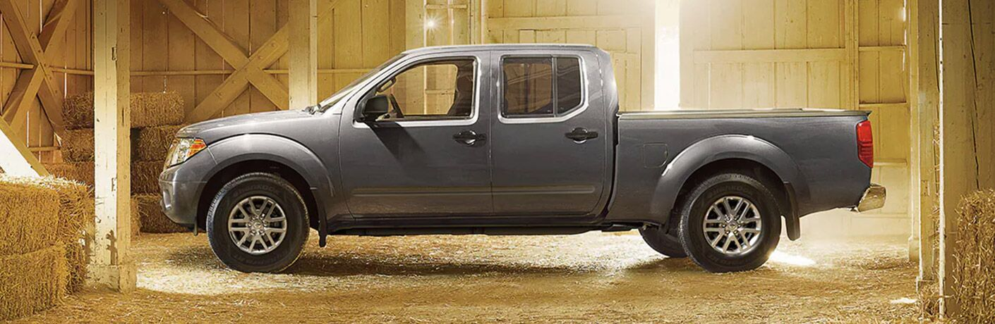 Side view of a 2021 Nissan Frontier