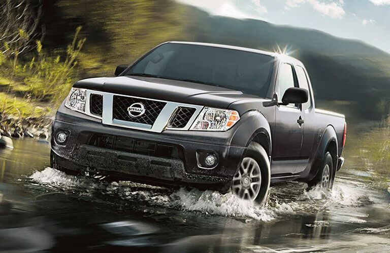 2021 Nissan Frontier pushes through some water
