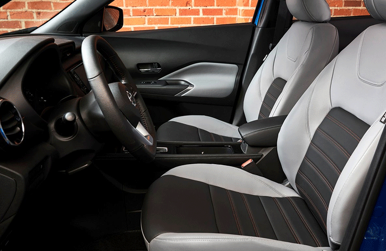 Front seats in the 2021 Nissan Kicks