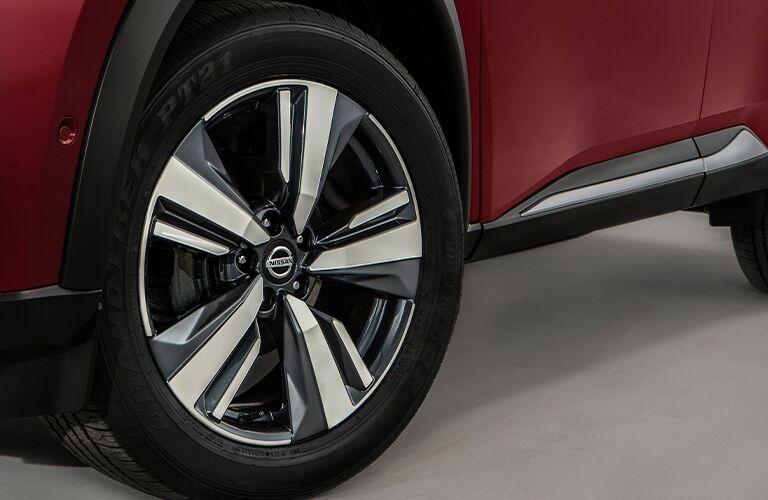 Wheel of a 2021 Nissan Rogue