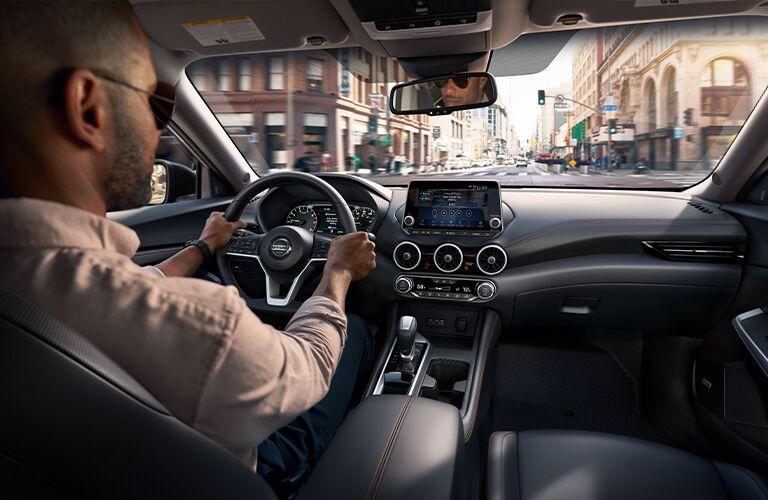 Man drives 2021 Nissan Sentra