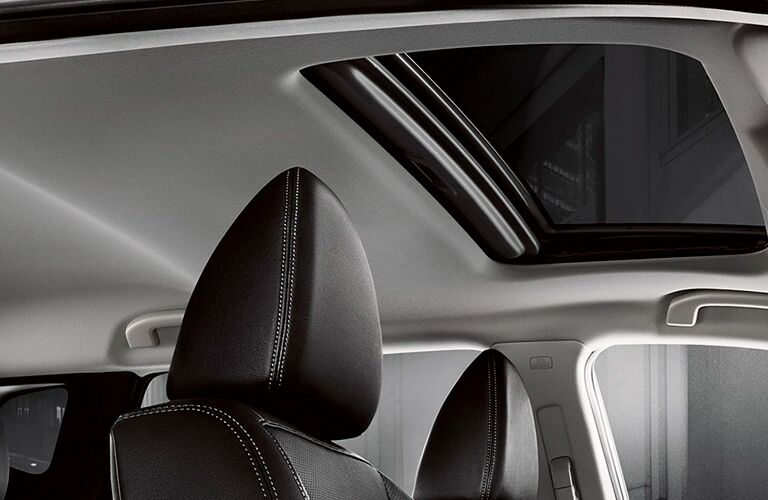 A look at the moonroof inside the 2021 Nissan Rogue Sport