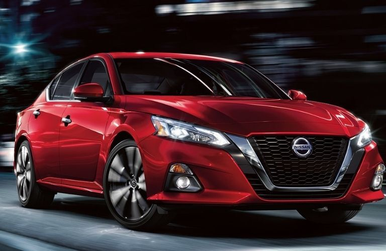 2021 Nissan Altima in the night on a road