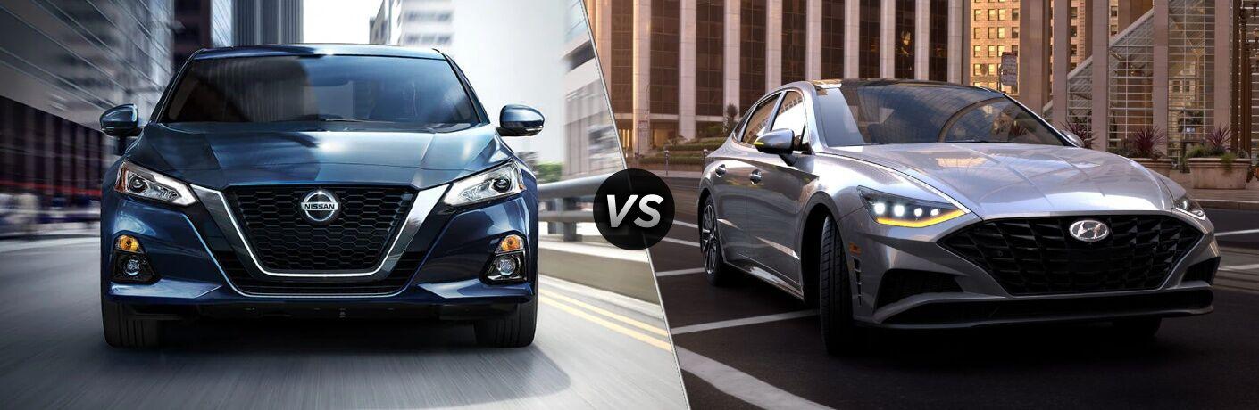 2021 Nissan Altima vs 2021 Hyundai Sonata comparison image