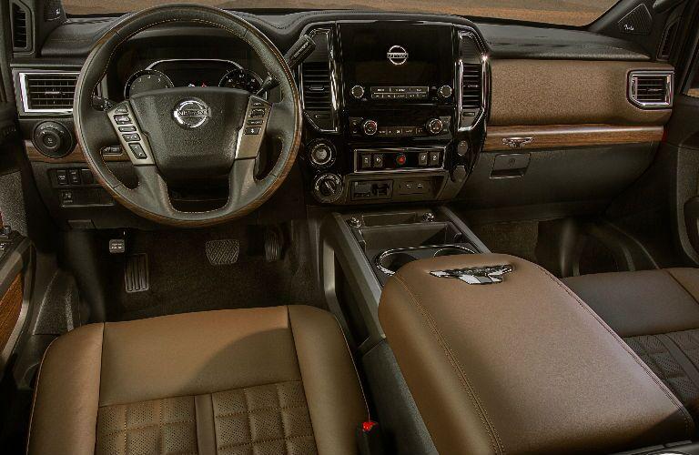 Interior cabin of a 2021 Nissan TITAN