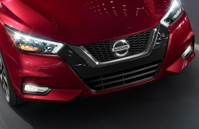 Front grille of 2021 Nissan Versa