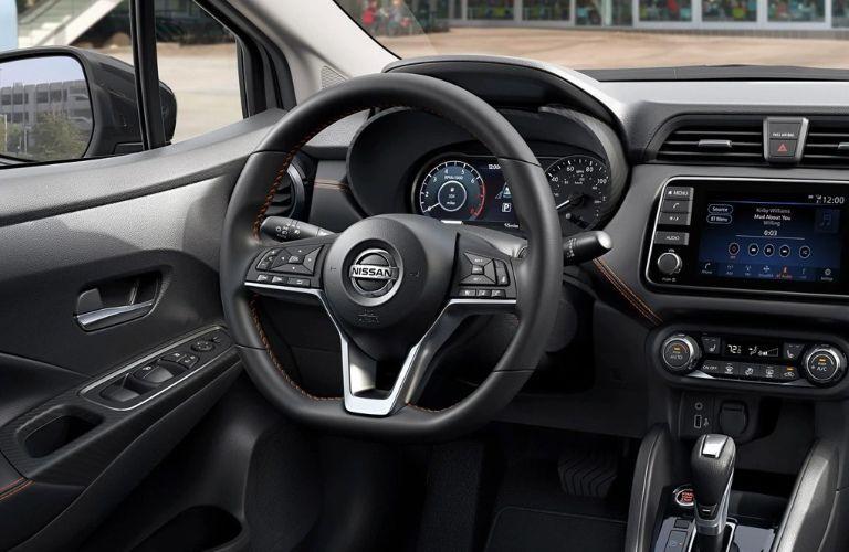 Interior front cockpit of 2021 Nissan Versa