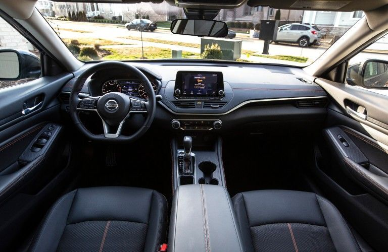 Interior front cabin of 2021 Nissan Altima