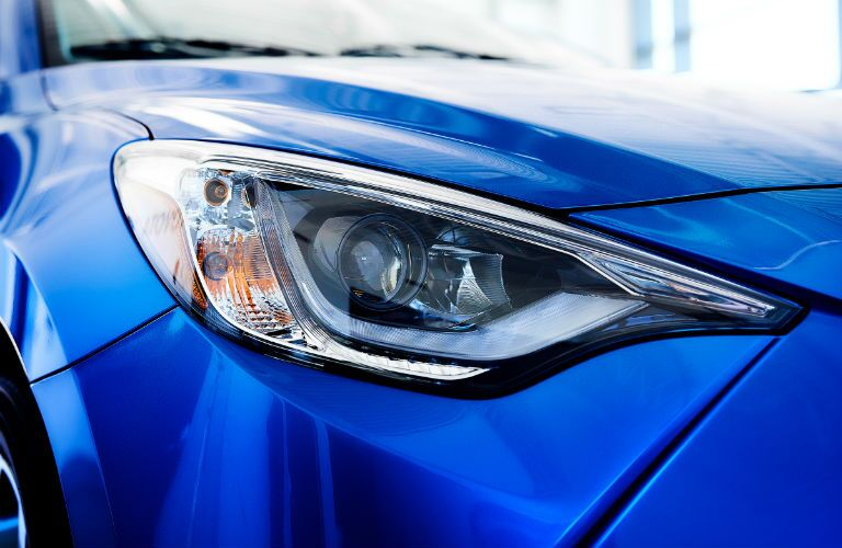 headlight on a 2020 Toyota Yaris Hatchback