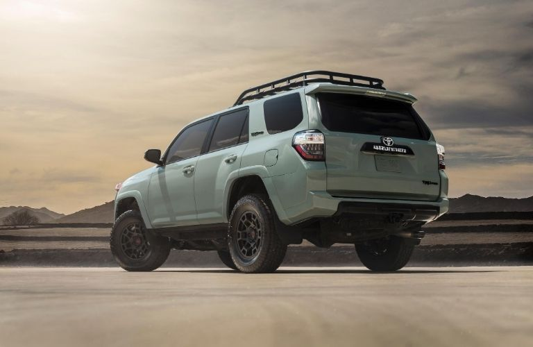 Rear/side angled view of beefy 2021 Toyota 4Runner