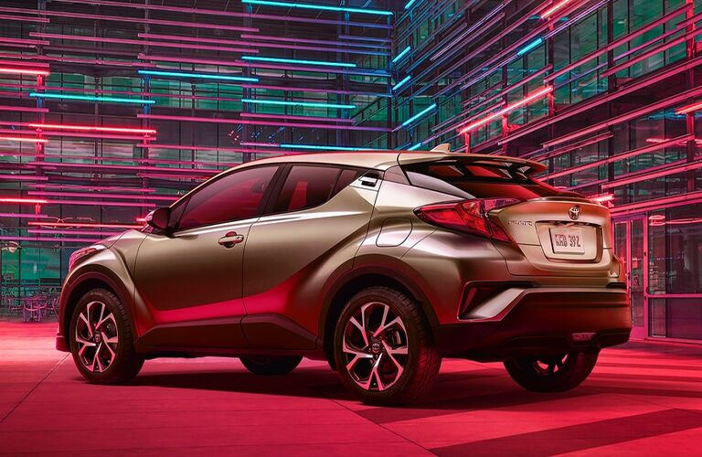 2021 Toyota C-HR in a red plaza