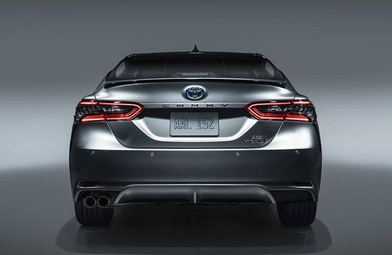 Rear end of 2021 Toyota Camry Hybrid