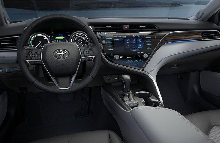 Interior cockpit of 2021 Toyota Camry Hybrid