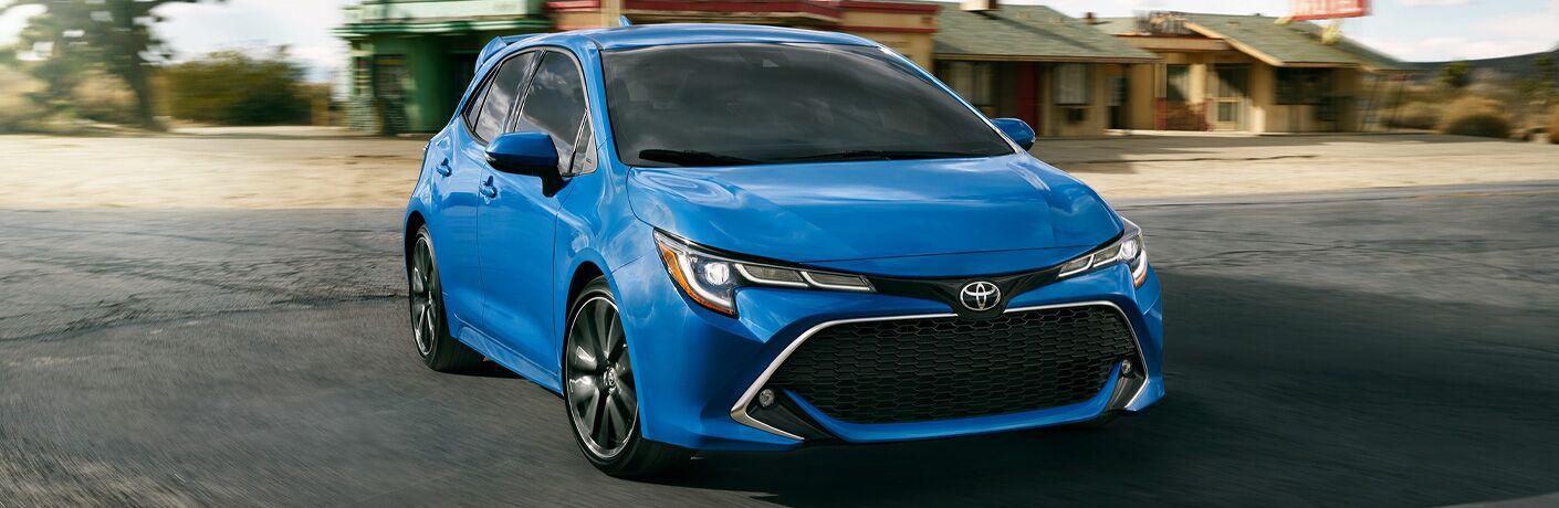 Blue 2021 Toyota Corollla Hatchback